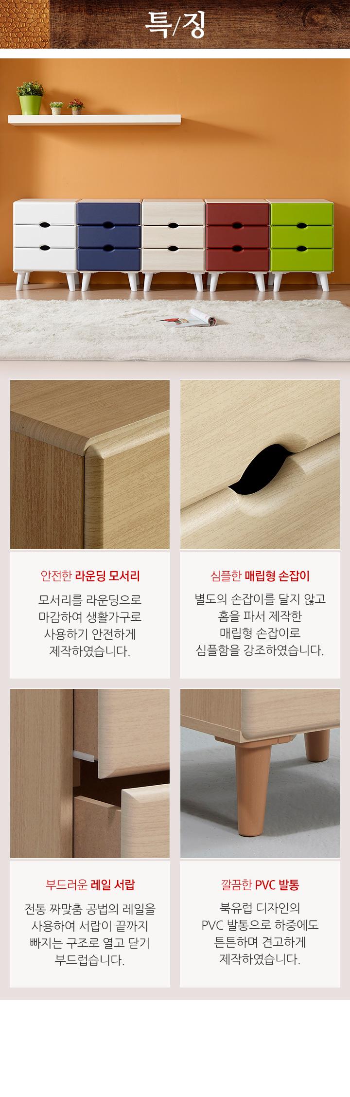 로쏘 미니서랍장 3단 고급형 - 로쏘, 55,820원, 서랍장, 다용도 서랍장